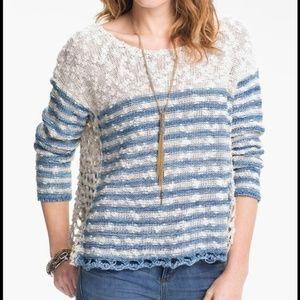 Free People Crochet Knit Sweater
